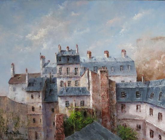 301... les toits de PARIS (55x46)