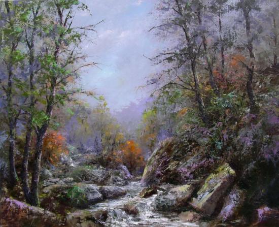 au détour du ruisseau (61x50)