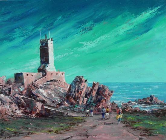 Au phare du Paon   Ile de Bréhat (65x54)