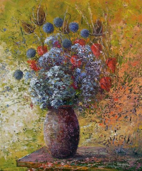 bouquet en liberté (55x46)