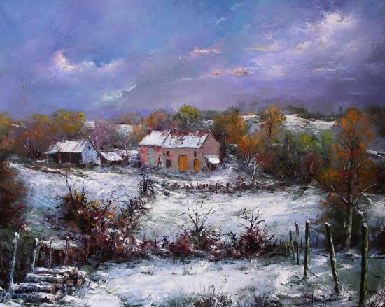 Première neige en Creuse (81X65)