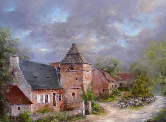 Hameau du Causse corrézien (61x50)