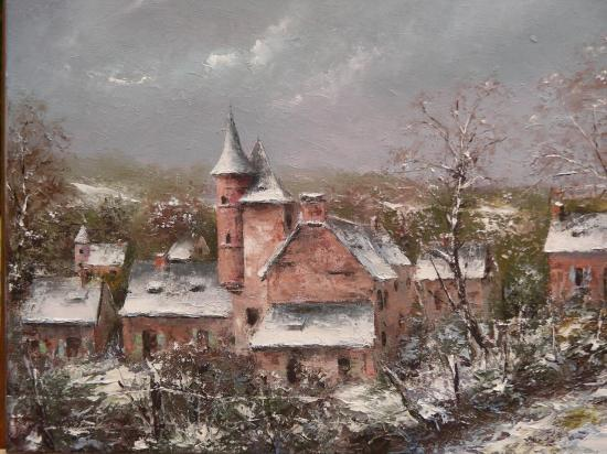 Il a neigé à Collonges-la-Rouge (55x46)