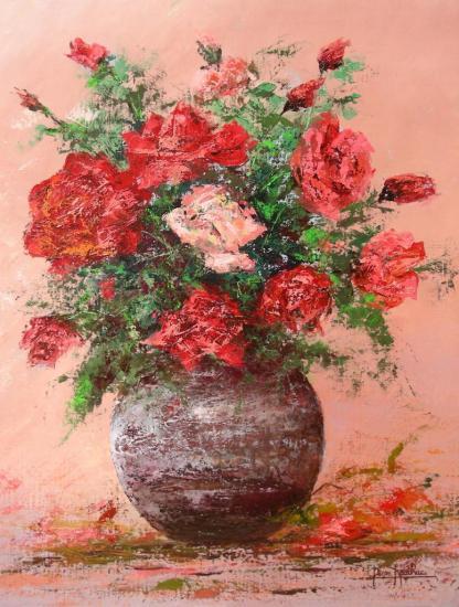 le bouquet de roses (55x46)