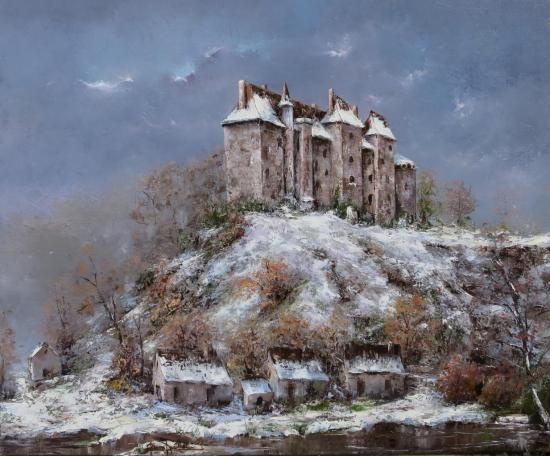 Le château de BOUSSAC en hommage à Gaston Thiéry (61x50)