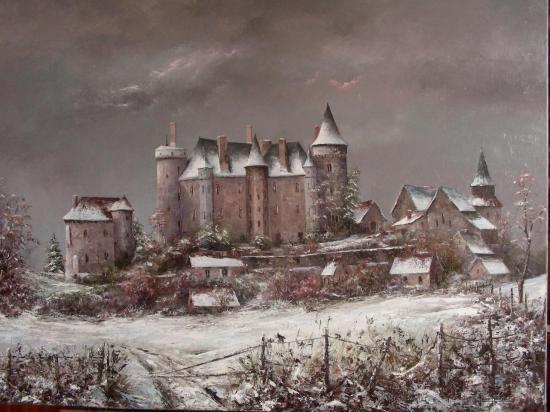 Le chateau de Saint-Chartier (100x81)