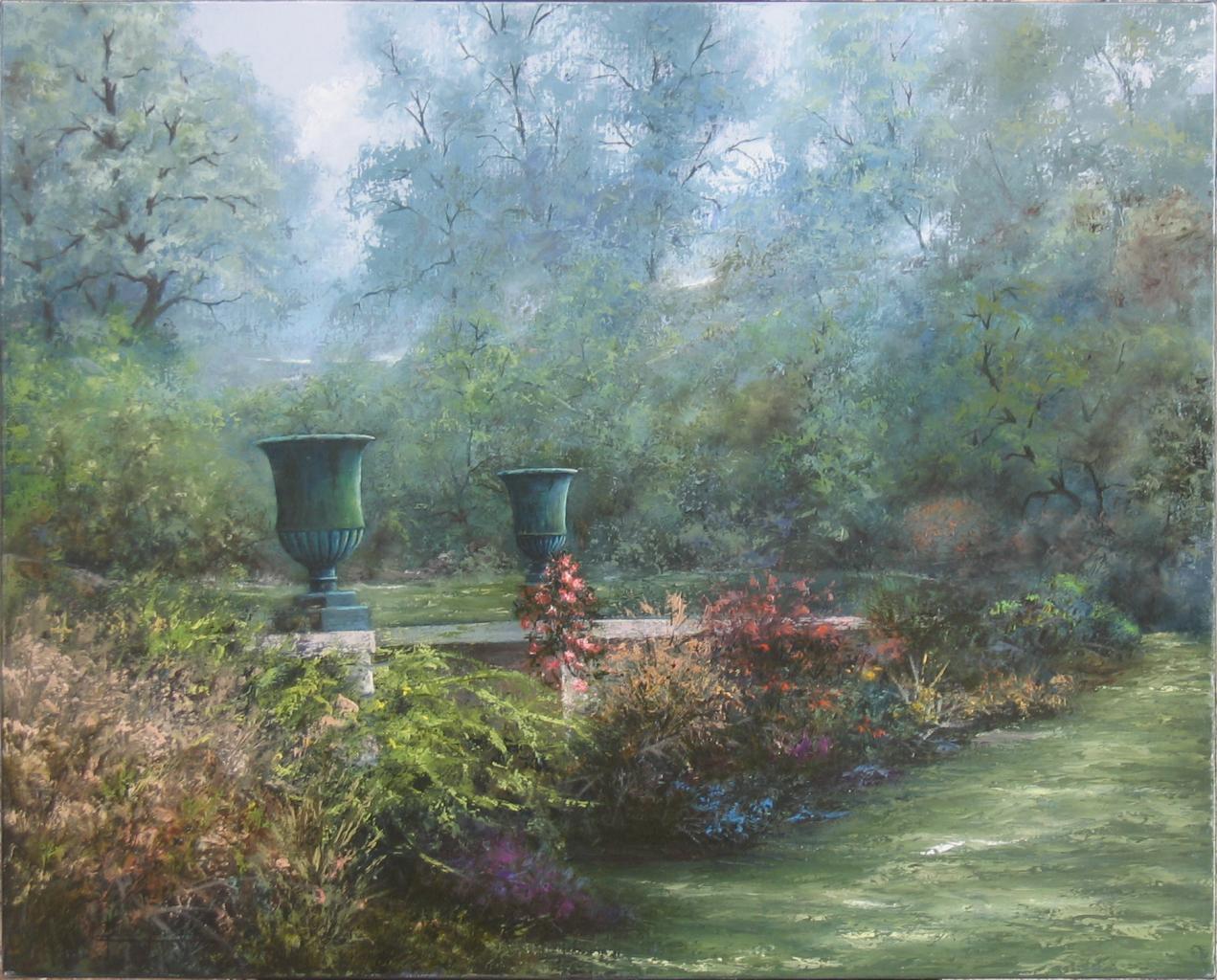 Le jardin romantique 81x65 for Jardins romantiques francais