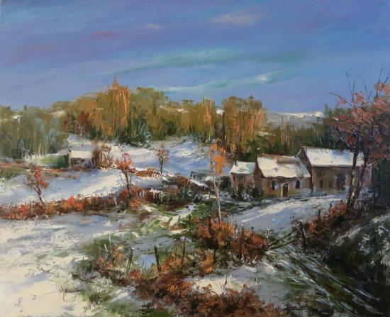 Soleil d'hiver en Creuse (61x50)