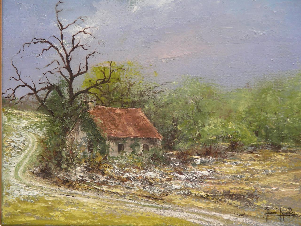 Vieille maison la rochette 41x33 for Vieille maison en pierre